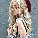 povoljno Sintetičke perike s čipkom-Prednja perika od sintetičkog čipke Kovrčav Spiralni Curl Jenner Stil Slobodni dio Lace Front Perika Plavuša Plavuša Sintentička kosa 24 inch Žene sintetički Jednostavan dressing Novi Dolazak Plavuša