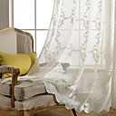 halpa Ikkunoiden verhot-Nykyaikainen Sheer One Panel Sheer Olohuone   Curtains / Jakardi