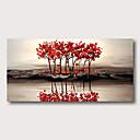 povoljno Apstraktno slikarstvo-Hang oslikana uljanim bojama Ručno oslikana - Sažetak Apstraktni pejsaži Comtemporary Moderna Uključi Unutarnji okvir / Prošireni platno
