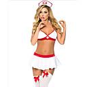 זול גופים סקסיים-מתנה בגדי ריקוד נשים סופר סקסי חליפות Nightwear גב חשוף, אחיד Nurses לבן מידה אחת / כתפיה
