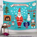 levne Nástěnné tapiserie-Vánoce Wall Decor Polyester Moderní Wall Art, Nástěnné tapiserie Dekorace