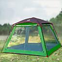 رخيصةأون مفارش و خيم و كانوبي-Hewolf 8 أشخاص خيمة التخييم العائلية في الهواء الطلق ضد الهواء مكتشف الأمطار يمكن ارتداؤها طبقات مزدوجة قطب الماسورة خيمة التخييم >3000 mm إلى Camping / Hiking / Caving تنزه قماش اكسفورد 300*300*215