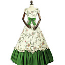 cheap Historical & Vintage Costumes-Princess Rococo Victorian Costume Women's Dress Party Costume Costume Green Vintage Cosplay Cotton Masquerade Party & Evening Sleeveless Off Shoulder Floor Length Long Length Plus Size
