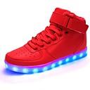 hesapli Erkek Sneakerları-Erkek Ayakkabı PU İlkbahar yaz Günlük Spor Ayakkabısı Günlük / Parti ve Gece için Beyaz / Siyah / Kırmzı