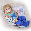 זול בובה מחדש-FeelWind בובה מחדש תינוקות בנות 22 אִינְטשׁ גוף מלא סיליקון סיליקון - חמוד ילדים / נוער הילד של יוניסקס צעצועים מתנות