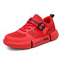 זול נעלי ספורט לילדים-בנים / בנות סוליות מוארות רשת נעלי ספורט ילדים קטנים (4-7) / ילדים גדולים (7 שנים +) ריצה / הליכה לבן / שחור / אדום קיץ