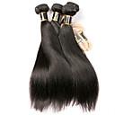 billige Parykker af ægte menneskerhår-3 Bundler Brasiliansk hår Lige 100% Remy Hair Weave Bundles Menneskehår, Bølget Bundle Hair Én Pack Solution 8-28 inch Naturlig Farve Menneskehår Vævninger Simple Lugtfri Glat Menneskehår Extensions