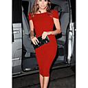 abordables Bague-Femme Midi Gaine Robe Noir Rouge Rose Claire L XL XXL Manches Courtes