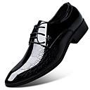 baratos Oxfords Masculinos-Homens Sapatos Confortáveis Microfibra Primavera Oxfords Preto / Castanho Claro / Vermelho