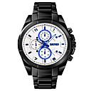 levne Vojenské hodinky-SKMEI Pánské Vojenské hodinky Křemenný Černá 30 m Armáda Voděodolné Bluetooth Analogové Outdoor Módní - Bílá Černá Modrá Jeden rok Životnost baterie