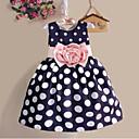 cheap Girls' Dresses-Kids Toddler Girls' Sweet Chinoiserie Polka Dot Sleeveless Cotton Dress White