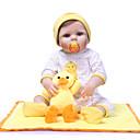 billige Reborn-dukker-NPKCOLLECTION Reborn-dukker Babypiger 24 inch Fuld krops silicone Vinyl - Gave Håndlavet Kunstig implantation Blå øjne Børne Pige Legetøj Gave