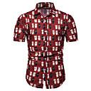 hesapli Erkek Gömlekleri-Erkek İnce - Gömlek Desen, Geometrik / Grafik / Karton Havuz