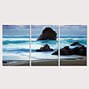 halpa Tulosteet-Painettu Pingoitetut kanvasprintit - Maisema Valokuvaus Moderni 3 paneeli Art Prints