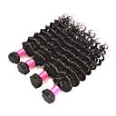 halpa Aitohiusperuukit-6 pakettia Brasilialainen Syvät aallot Käsittelemätön aitoa hiusta Hiukset kutoo Bundle Hair Aitohiuspidennykset 8-28 inch Luonnollinen väri Hiukset kutoo Pehmeä Paras laatu kuuma Myynti Hiukset