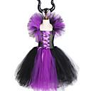 povoljno Movie & TV Theme Costumes-zlo kraljica djevojke tutu haljina s rogovima Halloween cosplay vještica kostim