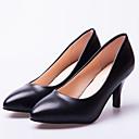 hesapli Kadın Topukluları-Kadın's Ayakkabı PU İlkbahar & Kış Topuklular Stiletto Topuk Günlük / Ofis ve Kariyer için Siyah
