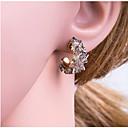 olcso Divat fülbevalók-Női Színes Mértani Beszúrós fülbevalók Fülbevaló Koreai Ékszerek Fehér / Szürke Kompatibilitás Napi 1 pár