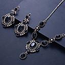 povoljno Komplet nakita-Žene Okrugle naušnice Ogrlica Vintage Style Poslastica Naušnice Jewelry Dark Blue Za Party Dnevno 1set