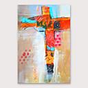 preiswerte Abstrakte Gemälde-Hang-Ölgemälde Handgemalte - Abstrakt Modern Fügen Innenrahmen