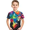 זול Kids' Flats-טישירט שרוולים קצרים דפוס דפוס / קשת פעיל / בסיסי בנים ילדים / פעוטות