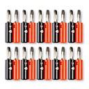 billige Koblinger & Terminaler-4 mm bananpropper skruetype plastikhoved lyd højttaler kabel stik (10-par)
