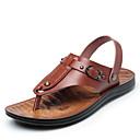 hesapli Erkek Sandaletleri-Erkek Ayakkabı Mikrofiber Yaz Günlük Sandaletler Deniz Ayakkabıları / Yürüyüş Günlük / Kumsal için Oyuklu / Metal Sarı / Kahverengi
