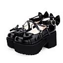 povoljno Lolita obuća-Princess Lolita Wedge Heel Cipele Jednobojni 8 cm CM Obala / Crn / Ink Blue Za Žene PU koža Halloween kostime