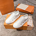 hesapli Kadın Sneakerları-Kadın's Ayakkabı Nappa Leather Bahar Spor Ayakkabısı Düz Taban Günlük için Altın / Gümüş