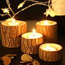 halpa Kynttilät ja kynttilänjalat-Moderni nykyaikainen Puinen Kynttilänjalat 1kpl, Kynttilä / kynttilänjalka