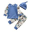 tanie Zestawy ubrań dla Chłopięce niemowląt-Dziecko Dla chłopców Casual / Aktywny Nadruk Nadruk Długi rękaw Regularny Bawełna Komplet odzieży Niebieski / Brzdąc