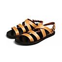 abordables Sandalias de Hombre-Hombre Zapatos Confort PU Verano Casual Sandalias Transpirable Blanco / Negro / Marrón Claro