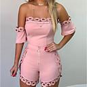 billige Blondeparykker med menneskehår-Dame Svart Rød Rosa Sparkedrakter, Ensfarget Blonde / Løse skuldre M L XL Vår Sommer Høst / Vinter