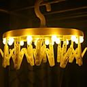 זול חוט נורות לד-0.5 מ ' חוטי תאורה 16 נוריות צהוב דקורטיבי סוללות AA 1set
