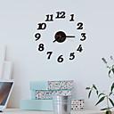 """זול שעוני קיר-סגנון מודרני אופנתי אקרילי עגול בבית 16"""" x 16"""" (40cm x 40cm)"""