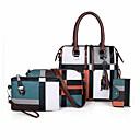 저렴한 패션 귀걸이-여성용 패턴 / 프린트 / 지퍼 가방 세트 가방 세트 폴리 에스터 / 우레탄 기하학 패턴 4 개 지갑 세트 블랙 / 루비 / 브라운 / 가을 겨울