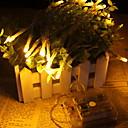 זול תאורת אופנוע-2m חוטי תאורה 20 נוריות צהוב דקורטיבי סוללות AA 1set