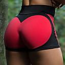 זול ביגוד כושר, ריצה ויוגה-בגדי ריקוד נשים מכנסי יוגה קצרים אופנתי ספנדקס ריצה כושר וספורט מכנסיים קצרים לבוש אקטיבי נושם רך באט הרם מיקרו-אלסטי