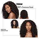 billige Parykker af ægte menneskerhår-4 pakker Brasiliansk hår Dyb Bølge Jomfruhår Menneskehår, Bølget Bundle Hair Hårforlængelse af menneskehår 8-28 inch Naturlig Farve Menneskehår Vævninger Lugtfri Hot Salg ubehandlet Menneskehår