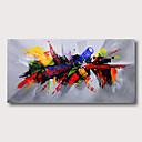 povoljno Apstraktno slikarstvo-Hang oslikana uljanim bojama Ručno oslikana - Sažetak Apstraktni pejsaži Comtemporary Moderna Uključi Unutarnji okvir