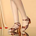 זול חליפות רטובות,חליפות צלילה וחולצות ראש-גארד-בנות נעלי ריקוד סטן נעליים לטיניות אבזם עקבים עקב עבה חום / שחור וזהב / נמר / הצגה