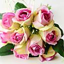 זול פרחים מלאכותיים-פרחים מלאכותיים 9 ענף קלאסי ארופאי פרחי חתונה ורדים פרחים נצחיים פרחים לשולחן