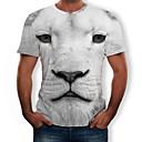 abordables Talkie-walkie-Tee-shirt Homme, 3D / Animal Imprimé Col Arrondi Gris Clair XXXL