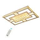 cheap Ceiling Lights-LED Crystal Ceiling Lights/ Modern Flush Mounted Rectangle Frame for Bedroom Living RoomWarm White/ White/Dimmable With Remote Control