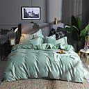 זול כפפות דופט יוקרה-סטי שמיכה אחיד / פסים / הדים ' פולי / כותנה הדפס 4 חלקיםBedding Sets