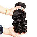 halpa Aitohiusperuukit-3 pakettia Brasilialainen Löysät aaltoilevat 100% Remy Hair Weave -paketit Hiukset kutoo Bundle Hair Yksi pakkaus ratkaisu 8-28 inch Luonnollinen väri Hiukset kutoo Luova Klassinen Tyylikäs Hiukset