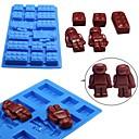 halpa Leivontavälineet-1kpl silikageeli 3D jää Suklaa Jää for Cake Robotti Leivontatarvikkeet Bakeware-työkalut