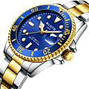 رخيصةأون ساعات رياضة-رجالي ووتش الميكانيكية داخل الساعة ميكانيكي يدوي ستانلس ستيل فضة 30 m رزنامه قضية مماثل موضة - أسود أخضر أزرق