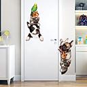 זול מדבקות קיר-קריקטורה חיות מחמד חמוד נשלף מדבקות קיר PVC - מדבקות קיר המטוס תחבורה / נוף חדר / משרד / חדר אוכל / מטבח
