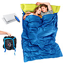 cheap Sleeping Bags & Camp Bedding-Naturehike Double Sleeping Bag with 2 Pillows Outdoor Double Wide Bag 5~15 °C Double Size Cotton Warm Moistureproof Ultra Light (UL) Dust Proof 210*145 cm 2 Person Hiking Beach Camping Traveling